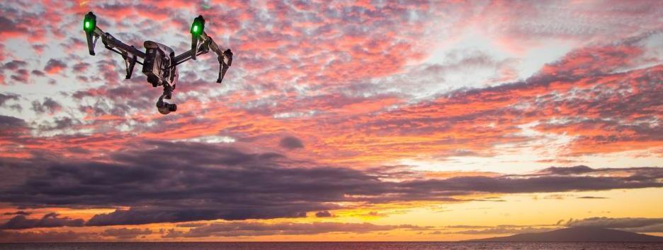 Drohne Sonnenuntergang