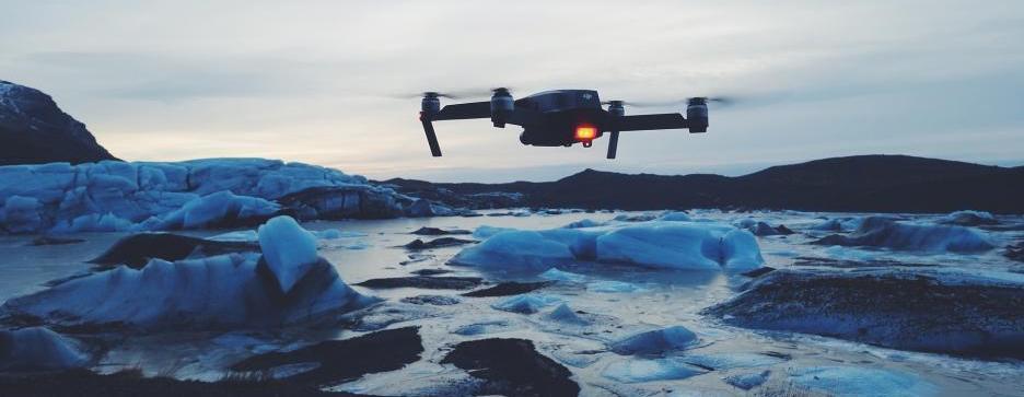 Drohne im Winter
