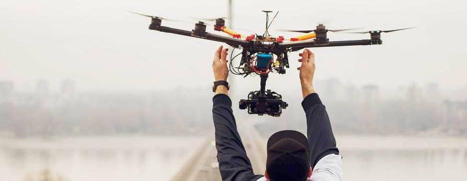 Große Drohne fangen