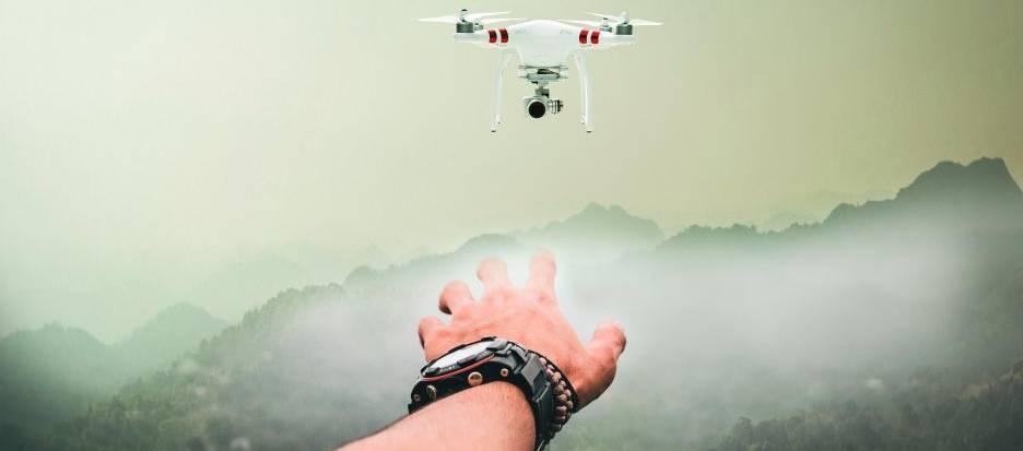 Drohne fliegt weg