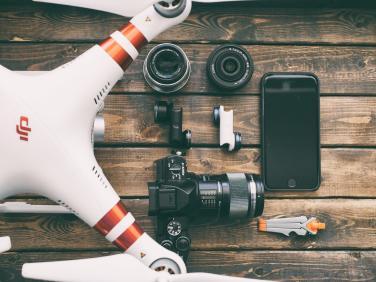 Drohne und Equipment Ausstattung