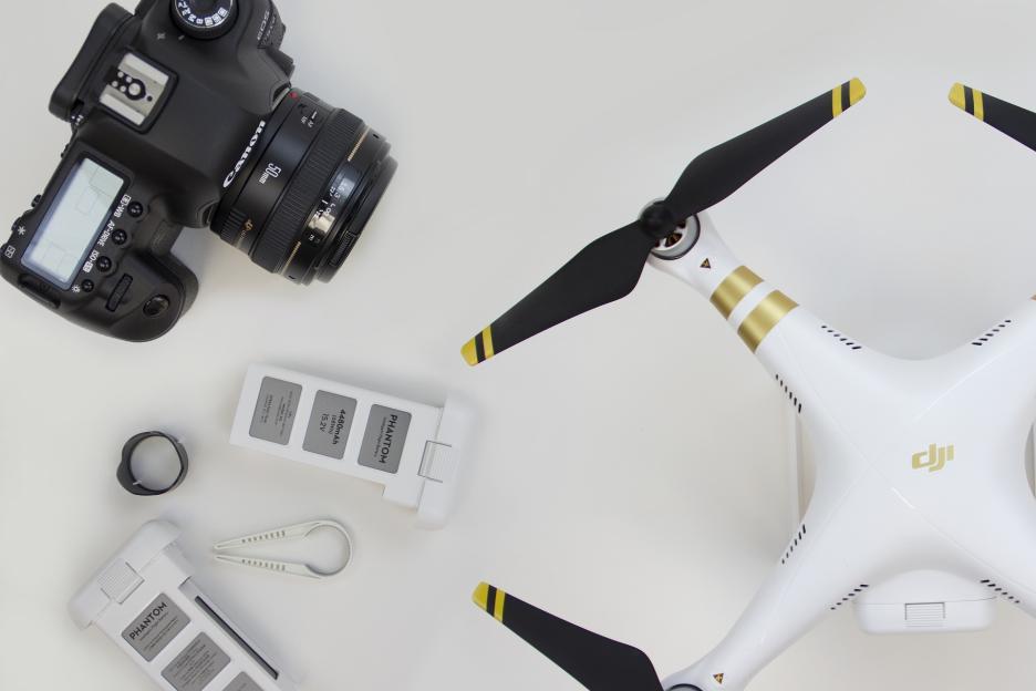Drohne mit Ausstattung
