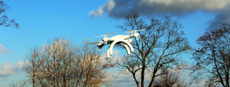 Drohne im Wind
