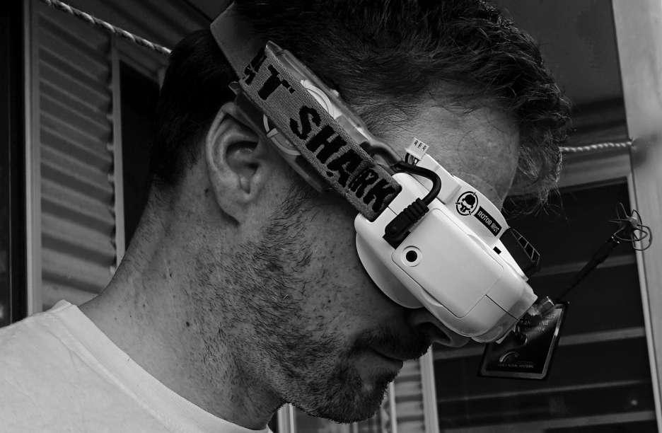 FPV Brille zur Steuerung der Drohne