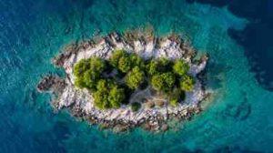 Drohne Insel Luftbild