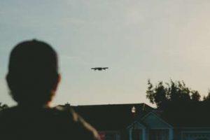 Drohne über Haus