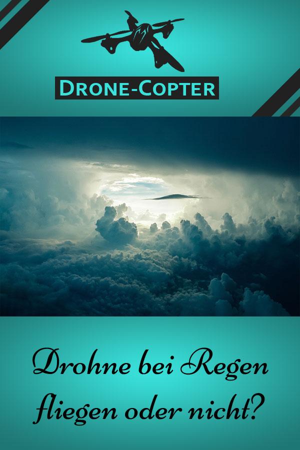 Drohne bei Regen
