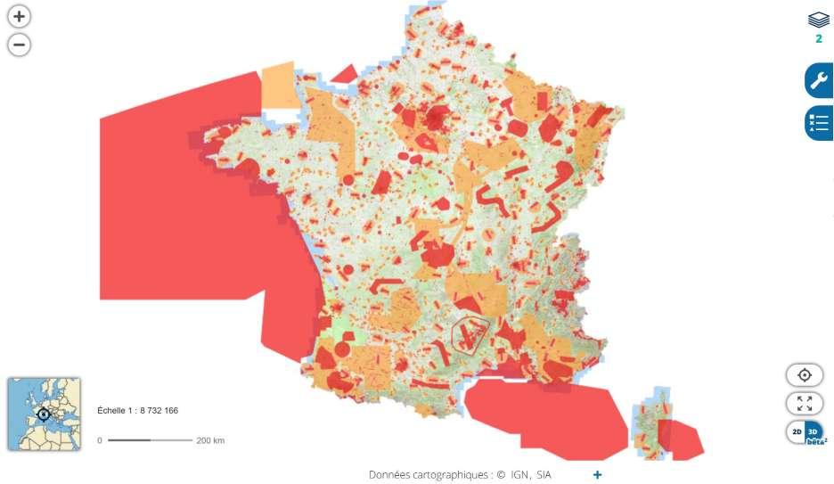 Drohne und Skigebiete in Frankreich